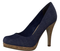 Pumps 'Plateau' blue denim
