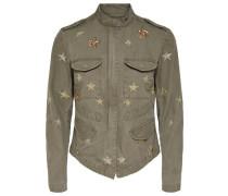 Jacke mit Sternen goldgelb / khaki