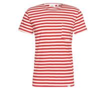 T-Shirt mit Streifen rot / weiß