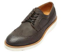 Brogue-Schuhe grau