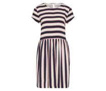 Kleid 'Vermund' blau / weiß