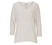 Shirt mit Streifenmuster puder / weiß