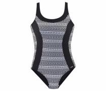 Beach Badeanzug schwarz / weiß