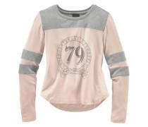 Langarmshirt mit kontrastfarbenem Einsatz pink
