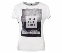 T-Shirt 'Sue' grau / schwarz / weiß