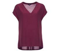 V-Shirt 'Silvia' weinrot
