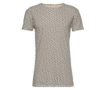 T-Shirt mit Print 'Olle' beige / schwarz