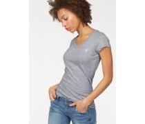 V-Shirt 'Logo V-neck' (Packung 2er-Pack) graumeliert / schwarz