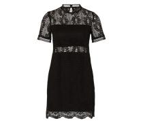 Minikleid mit Spitzen-Design schwarz