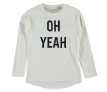 Nitlabibi T-Shirt mit langen Ärmeln weiß