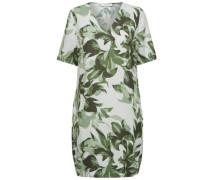 Print-Kleid mit kurzen Ärmeln grün / pastellgrün / naturweiß