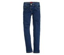 Skinny Suri-Dunkle Jeans blau