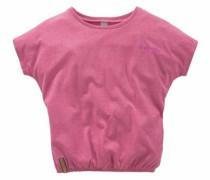 T-Shirt mit Fledermausärmeln pinkmeliert