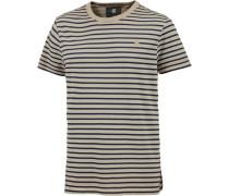T-Shirt Herren blau / greige