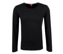 Schmales Jerseyshirt schwarz