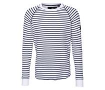 Pullover 'Jirgi striped r sw l/s' blau