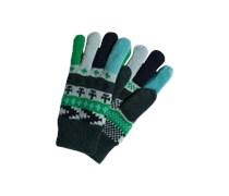 Handschuhe aus Wollmix grün / mischfarben