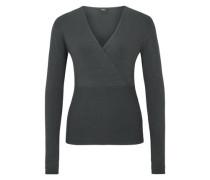 Pullover mit Cache Coeur-Ausschnitt grau
