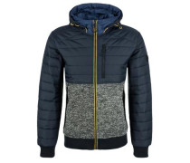 Outdoor-Jacke im Materialmix blau