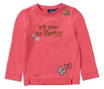 Sweatshirt mit Patches für Mädchen hellblau / pink