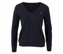 V-Ausschnitt-Pullover marine