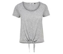 lässiges T-Shirt graumeliert