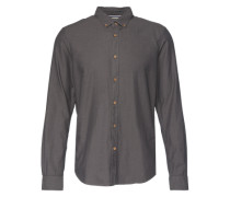 Hemd 'fitted shirt' grau