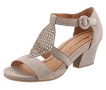 Sandalette mit Verzierung beige