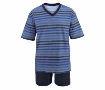 Kurzer Pyjama blau