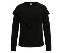 Sweatshirt mit Rüschendetail schwarz