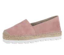 Espadrlles 'lido' pink / weiß