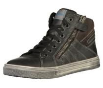 Sneaker taupe / schwarz