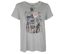 T-Shirt 'guitar' graumeliert / mischfarben