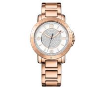 Armbanduhr rosegold / silber / weiß