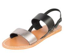 Sandale mit Metallic-Riemen schwarz / silber
