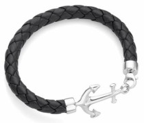 Armband »Anker« schwarz / silber