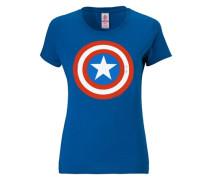 "T-Shirt ""Captain America"" blau"