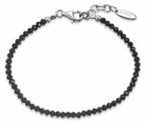 Armband 'erb-20-1Bs' schwarz / silber