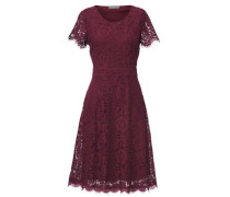 Bodyform-Spitzenkleid bordeaux
