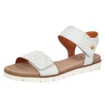 Sandalen in Metallic-Optik silbergrau / weiß