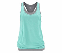 2-in-1-Top grau / mint