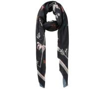 Langer bedruckter Schal mischfarben / schwarz