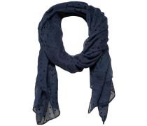 Gepunkteter Schal nachtblau / schwarz