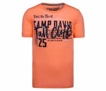 Shirt weiß / orange / schwarz