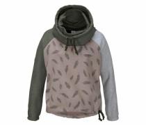 Sweatshirt 'eulo Batwing' grau / taupe / oliv