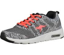 Sneaker koralle / schwarz / weiß