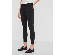 Skinny Fit Jeans 'Seven NW Ankle' schwarz