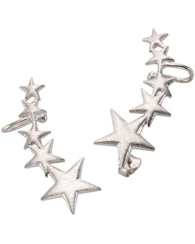 Ohrstecker mit Ohrklemme »Ear Cuffs Sterne« silber
