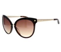 Sonnenbrille braun / gold