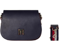 Handtaschen »TH Twist Saddle BAG Leather Corperate« navy
